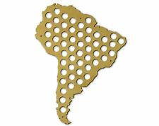 Beer Cap Traps Map of South America Bottle Beer Pop Wood Cap Organizer