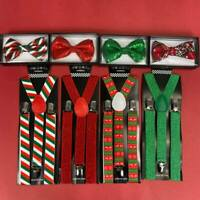 Christmas Suspender and Bow Tie Set for Adults Men Women Teens (USA Seller)