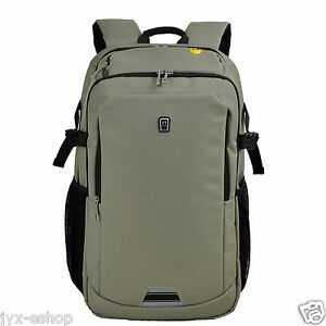 """Khaki 16"""" / 17"""" Inches Laptop Backpack Fashion Business Office School Travel Bag"""
