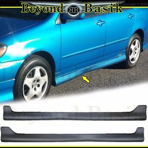 For 2003 04 05 06 2007 2008 Toyota Corolla Side Skirts Body Kit Factory S-Style