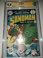 Signed SANDMAN #2 (1975) CGC SS 9.4 by MIKE ROYER / Jack Kirby & Royer Cover