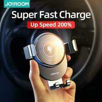 Joyroom 15W Wireless Charger Car Mount for Air Vent Mount Car Phone Holder Intel