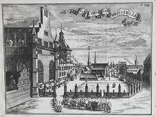COUR BRUSSELLE Belgique GRAVURE Delices Brabant CANTILLON Bruxelles 1757