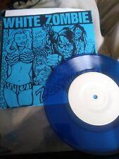 """Rob White Zombie Zombie Kiss Blue 7"""" inch live Cbgb rare htf great condition"""