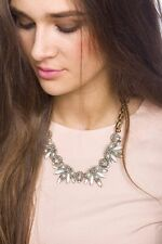 Statement Necklace Gem And Crystal Leafy Necklace Pendant Fashion Style Jewelry