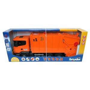 1/16th Scania R-Series Orange Garbage Truck 03560