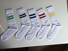 5 Pares de Calcetines De Deporte Rayas en Blanco Fútbol Tenis árbitro Gimnasio Reino Unido 6 -11 fgvcd