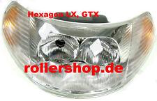 Scheinwerfer Piaggio Hexagon LX, inkl. Glühlampen