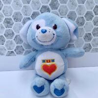 """Care Bear Plush LOYAL HEART DOG 8"""" Bean Bag 2003"""