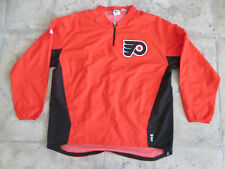 VINTAGE MAJESTIC NHL PHILADELPHIA FLYERS SEWN PULL-OVER CREWNECK XL  COOL BASE