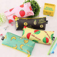 1Pc Pretty Fruit Pattern Pencil Case Cosmetic Pouch Holder Makeup Bag Coin Purse