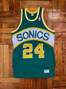 Vintage Supersonics Authentic Sand Knit Jersey kemp payton allen champion sonics