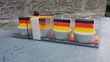 32 Deutschland-Fußball-EM-Weltmeister-Kerzen , 8x 4er-Set , Public Viewing, WM