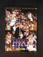 Washington Huskies--1997-98 Basketball Pocket Schedule--KOMO/UPS