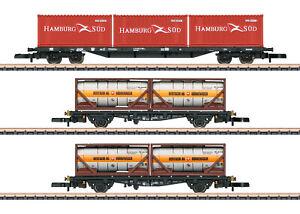 Märklin 82663 Spur Z Containertragwagen-Set der DB AG 3-teilig#NEU in OVP#