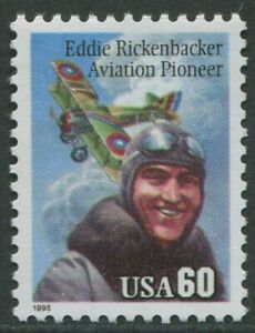 EDDIE RICKENBACKER - AVIATION PIONEER 1995 - MNH (BR28)