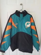 1990's MIAMI DOLPHINS NFL Men's Jacket APEX Hooded Apparel Large Football