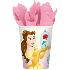 BEAUTY and the BEAST DREAM BIG 9oz PAPER CUPS (8) ~ Birthday Party Supplies Pink