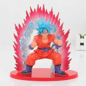 Dragon Ball Z Blue Super Saiyan God Son Goku Kaioken SSGSS Action Figure 20cm