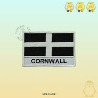 CORNWALL County Flag With Name Embroidered Iron On Sew On Patch Badge