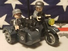 GERMAN MILITARY motorcycle 2 custom minifigures guns WWII WWI war army Star Wars