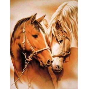 Painting By Numbers Kit DIY Loving Horses Canvas Oil Art Picture Home Decor