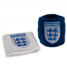 England Football Three Lions Crest Towelling Wrist Sweat Bands BW Free UK P&P