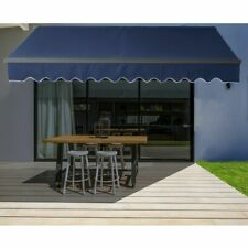 ALEKO Motorized Retractable Home Patio Canopy Awning 20'x10' Blue