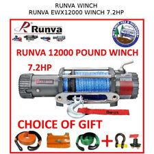 RUNVA 12000 LB POUND 7.2HP WINCH DYNEEMA ROPE ELECTRIC WARN 4x4 4WD EWX1200-12VD
