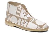 Patternity x Clarks Originals Desert Pattern Sand Multi  Ankle Boots Size 6.5UK