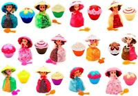 Lot of 4 Four Transform Cupcake Surprise Scented Dolls Vary Color and Style