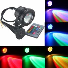 LED Waterproof IP68 10W RGB Flood Light Fountain Pool Pond Underwater Spotlight