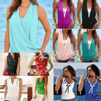 Fashion Womens Ladies Summer Vest Top Sleeveless Blouse Casual Tank Tops T-shirt