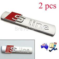2pcs S Line Sline Emblem Badge For Audi silver NEW