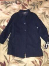 New NWT Sag Harbor Women  jet black Jacket  dress 100% wool coat Size 14 $140