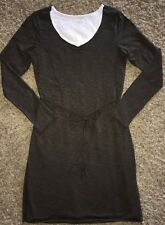 HORNY Toad ORGANIC Cotton LONG Sleeved DOUBLE Layer SUPER Comfy DRESS Medium LN!