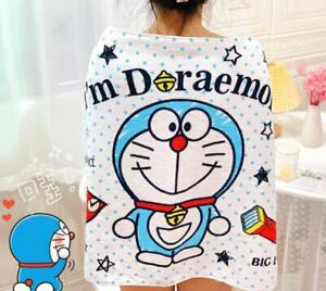 doraemon blue cotton bathing towel unisex swimming towels model