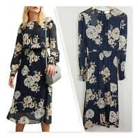 [ WITCHERY ] Womens Floral Print Georgette Dress  | Size AU 10 or US 6
