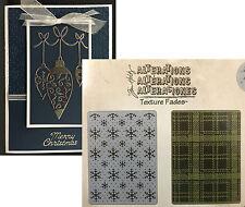 Tim Holtz SNOWFLAKES & PLAID Embossing Folders Sizzix 658779 Christmas Holidays