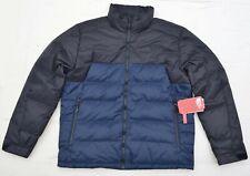 New XL Men THE NORTH FACE puffer down Winter Ski Trek jacket coat Black blue TNF