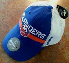 NEW YORK ISLANDERS, REEBOK CENTER ICE COLLECTION HAT,BLUE,WHITE STRETCH L/XL NEW