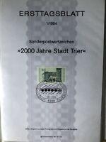GERMANY ERSTTAGSBLATT 1984-1989 Stamp/leaves Sets in 2 Albums