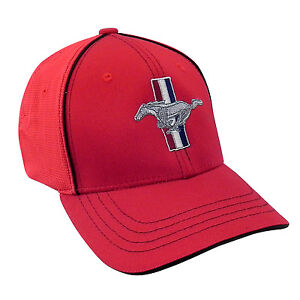 Ford Mustang Red Flex Fit Baseball Cap