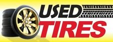 Used Tires (Tracks) Vinyl Banner Sign - 3' X 8'
