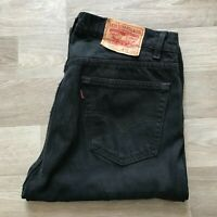 Men's Levi's 505 Straight Leg Black Jeans W32 L30 (#A955)
