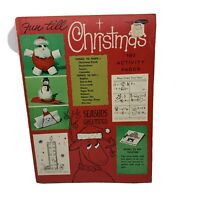Fun Till Christmas Activity Book Coloring Vintage 1965 192 Pages