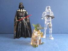Swarovski Disney Star Wars Master Yoda, Stormtrooper, Darth vader.