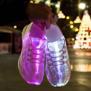USB Recharge Luminous Glowing Sneakers Led Fiber Optic Light Sport Unisex Shoes