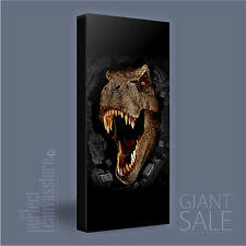 JURASSIC PARK AWESOME GIANT T-REX ICONIC CANVAS ART PRINT PICTURE Art Williams#P