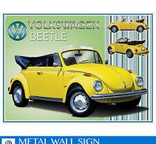 Large VW Yellow Bug Vintage Metal Tin Sign Poster Bar Garage Wall Decor 40x30cm